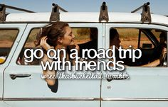 Road trip!! Did this with kenzie once but we need to do again!