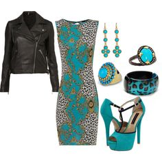 """love this almost """"classy biker chick"""" kind of look, created by stodd2210 on Polyvore"""