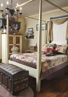 love this bedroom #Americana #Prim