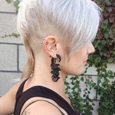 hot girl with undercut and rattail
