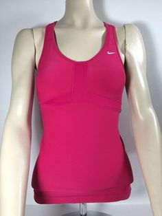Nike Dri Fit Women's Running, Tennis Sleeveles Tank with Shelf Pink (XS) #Nike #ShirtsTops