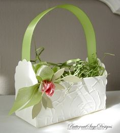 spring favor basket - Stampin' Connection