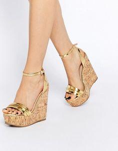b16341086814d5 ASOS - TIME FLIES - Chaussures compensées en deux parties Sandales  Compensées, Bottes, Talons