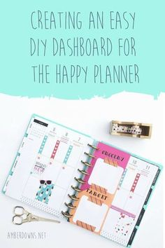 Creating an easy DIY Dashboard for the happy Planner