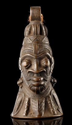"Africa | Bell ""omo"" from the Yoruba people of Nigeria 