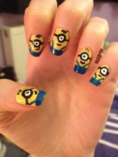 My minion nails done with Migi Nail Art Pens! :-) x