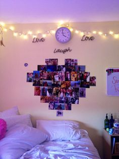 Going to try to do this, this weekend ✌️.  I love the wall quote and heart collage