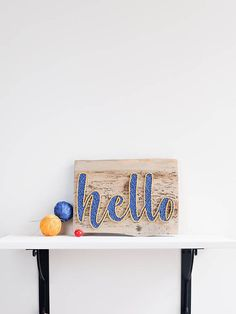 This blue and yellow hello string art sign is the perfect addition to your homes interior - especially perfect to hang in your entryway. Only high-quality materials are used in the preparation of this string art. As a wood base is used a reclaimed wood plank with more than 20 years