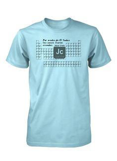 Tabla Periodica Elementos Quimica Ciencia Creacion Camiseta Cristiana 71cdb208afc2f