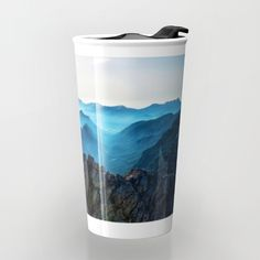 Mountains Breathe Too Travel Mug by Mixed Imagery | Society6