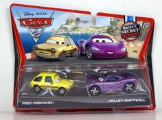 Disney / Pixar CARS 2 Movie Exclusive 155 Die Cast Car 2Pack Fred Fisbowski Holley Shiftwell Maters Secret Mission by Mattel Toys. $38.49. THANKS FOR LOOKING.. VERY HARD TO FIND. NOT EVERY STORE GOT THEM. WALMART EXCLUSIVE. NOT MANY OUT THERE. Double your racing fun with an Disney Pixar Cars 2 Vehicle 2Pack of 155 scale diecast vehicles featuring teams of two characters who share key scenes in the film, Cars 2. Every pack includes an exclusive vehicle only avail...