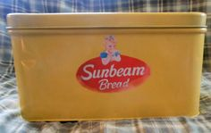 Vintage Sunbeam Metal Tin Bread Box 60s or 70s | eBay   Oh I want this so bad !!!