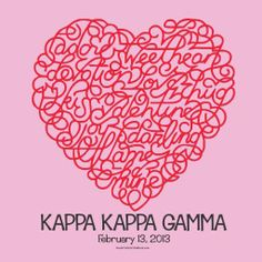 #kappakappagamma #valentinesday #social #sweetheart #Search Thousands of Sorority and Fraternity Greek T-Shirts Designs #SororityShirts #Fraternity #GreekT-Shirts #SpringBreak2014