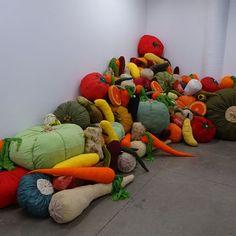 Artist's response to food waste - soft sculpture...