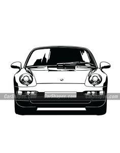 1995 PORSCHE 911 CARRERA (993) Car Vector, Car Drawings, Vector Illustrations, Carrera, Automobile, Cars, Autos, Graphic Design