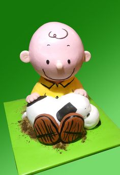 charlie brown and snoopy cake...too cute!
