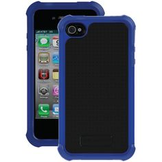 Ballistic Iphone 4 And 4s Tough Jacket Case (black And Dark Blue)