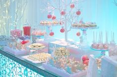Pink and Blue Winter Wonderland with lots of ideas and how-to's