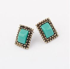 Awesome stud #Earring, acid blue, more Info click it.