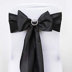 Pack of 100,Mint Elina Home Satin 6 x 108 Chair Bow Sash Wedding Banquet Kitchen Decoration MINT-100 Elina Fashion SATIN-CHAIR