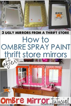 Paining a series of mismatched thrifted mirrors a sherbet ombre will turn any boring wall into a swoon-worthy focal point! Diy And Crafts Sewing, Crafts To Sell, Electronics Projects, Los Cars, Backgrounds Hd, Decorating Your Home, Diy Home Decor, Orange House, Elderly Home