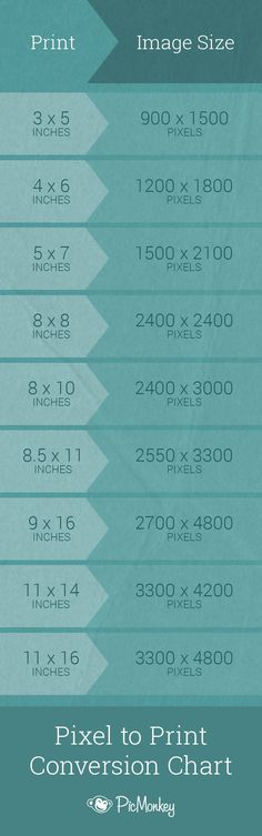 Trying to convert those ethereal pixels into cold, hard, printable inches? Look no further. Here are the conversions we recommend for the following common photo sizes.