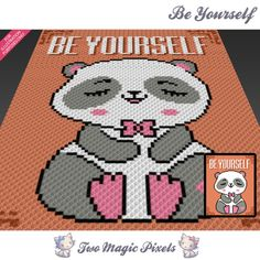 Be Yourself crochet blanket pattern; c2c, cross stitch; graph; pdf download; no written counts or row-by-row instructions by TwoMagicPixels, $3.99 USD