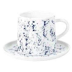 Kaffekopp med fat KAFFE SPLASH - Lagerhaus.se