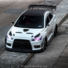 Mitsubishi Evo X Evo X, Mitsubishi Lancer Evolution, Tuner Cars, Jdm Cars, Carros Audi, Custom Headlights, Mitsubishi Cars, Japan Cars, Modified Cars