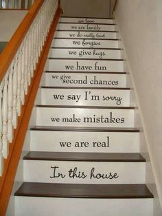 Love is patient. Love is patient. Love is patient. Love is patient. Wall Stickers, Wall Decals, Stair Stickers, Wall Art, Vinyl Decals, Wall Vinyl, Vinyl Art, Escalier Art, Stairway Art