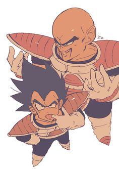 DBZ Vegeta and Nappa