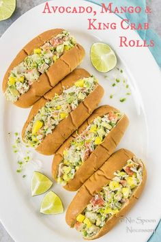 Avocado, Mango & King Crab Rolls-short pin2