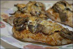 Baked Chicken w/mushrooms, cheese