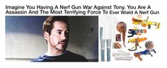 """Imagine You Having A Nerf Gun War Against Tony. You Are A Assassin And The Most Terrifying Force To Ever Wield A Nerf Gun"" by alyssaclair-winchester ❤ liked on Polyvore featuring rag & bone, Uniqlo, Converse, imagine, Avengers, marvel, ironman and TonyStark"