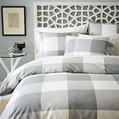 Morocco Headboard - White #westelm ~ we used this in Sapodilly condo's master bedroom and it looks smashing with a turquoise quilt and pink pillows