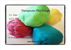 Help your kids make the switch from crabby to cheerful with this therapeutic play dough!