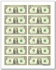 This is a picture of Canny Printable Play Money Black and White Pdf