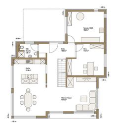 Fertighaus WEISS - Musterhaus Cube in Ulm Room Inspiration, Projects To Try, Floor Plans, How To Plan, House, Home, Ulm, Big Living Rooms, Modern Bungalow
