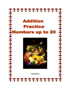 Thanksgiving Themed -Addition to 20-  20 pages of sequenced math worksheets with a Thanksgiving theme.  It's simple addition to 20 and there are many pages of practice along with fun activities.  There are coloring pictures, a maze, and dot-to-dots.  This can be used as supplemental practice along with any math program.