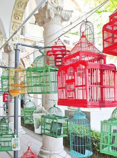 mischer traxler BE OPEN young talent award designboom Mexican Restaurant Decor, The Caged Bird Sings, Bird Cages, Commercial Design, Home Signs, Summer Colors, Bird Houses, Creative, Inspiration