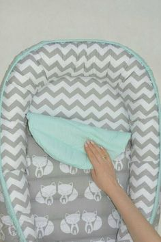SALE READY to SHIP Double-sided babynest Baby nest Baby
