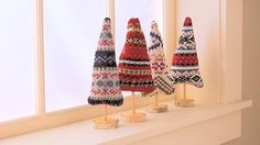 Tabletop Sweater Trees