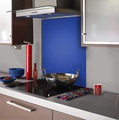 #kitchens #kitchenaccessories #kitchendesign #splashback Cobalt Blue Kitchens, Coloured Glass Splashbacks, Cobalt Glass, Kitchen Family Rooms, Stylish Kitchen, Glass Kitchen, Kitchen Design, Kitchen Ideas, Colored Glass