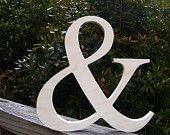 """12"""" Wooden Ampersand Sign Photography-DIY-Wedding Decor-Engagement-Wooden Alphabet Letters- Photography prop- Birthday- Decor- In STOCK. $11.00, via Etsy."""