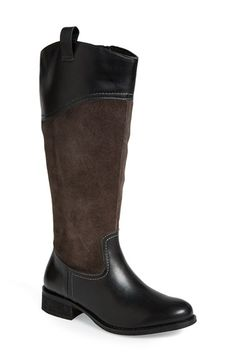 Free shipping and returns on Seychelles 'Expedition' Boot (Women) at Nordstrom.com. Contrast topstitching outlines a suede-and-leather riding boot upgraded in neutral color-blocks. A full-length side-zip closure makes it easy to slip on and take off, and the low stacked heel provides just-right height.