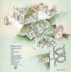 """""""El Ministerio del Tiempo""""Mapa basado en la serie de televisión.Digital y tinta. Kiko Sánchez. 2015.Puedes ver mi mapa del colegio Hogwarts en este link."""