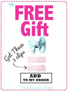 Free gift with purchase baby girl hair accessories