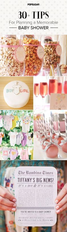 30+ Tips and Tricks to Make Your Baby Shower Shine: Every hostess with the mostest wants to give her guests (especially the guest of honor) an affair to remember, hence these tips for hosting a special baby shower being a hot pin.