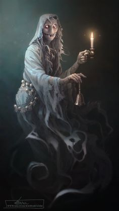 Ghoul design by Sally Jackson - Mega Dark Things Creepy Ghost, Creepy Monster, Scary Art, Monster Concept Art, Fantasy Monster, Monster Art, Dark Creatures, Fantasy Creatures, Mythical Creatures