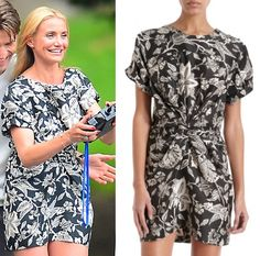 The Other Woman Movie: Carly's (Cameron Diaz) black and white floral print dress by Isabel Marant